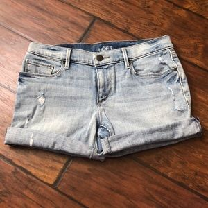 Loft Distressed Jean Shorts